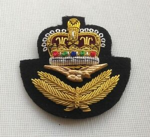 RAF Beret Badge, Officers, Embroidered, Royal Air Force, R.A.F, Cap, Military