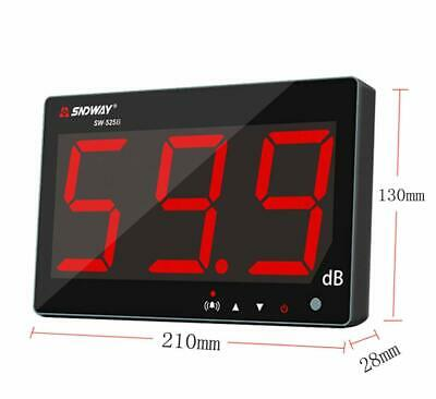 Sndway Sw-525b 30-130db Digital Sound Level Meter With Large Lcd Display