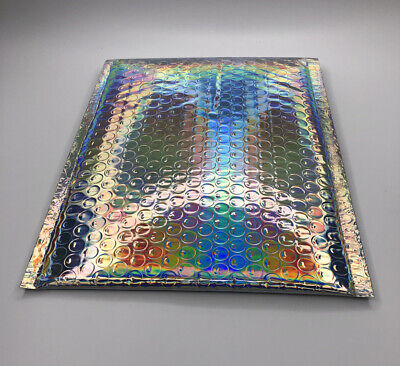 Holographic Design Mailers Bubble Padded Envelope Gift Wrap Multi Lot X 10 6x9