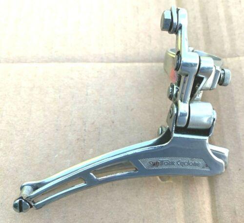 Vintage SUNTOUR CYCLONE Front Derailleur Silver 28.6mm Clamp FD-1300