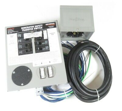 Generac 6294 30-amp 120240 Single Phase Pre-wired Manual Transfer Switch