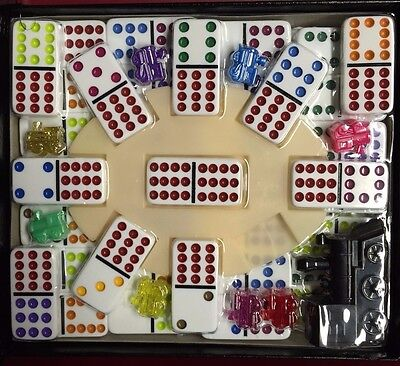 -  Double Twelve 12 Dominoes Mexican Train Dominoes Set w/ FREE SHIPPING