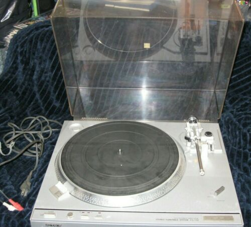 Vintage Sony PS-T33 Direct Drive Turntable w/ Dust Cover Fully Automatic -WORKS!