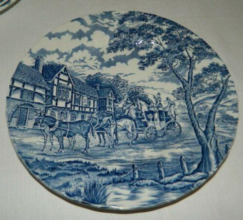 Myott Royal Mail Staffordshire Ironstone Blue Ware Dinner Plate
