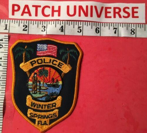 VINTAGE WINTER SPINGS FLA POLICE  SHOULDER  PATCH  A080
