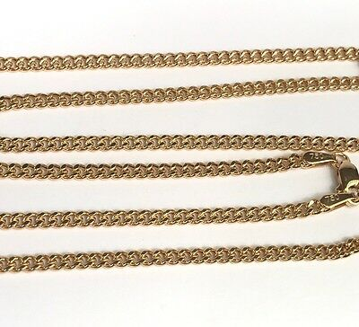 18k Italian Necklace (18k Solid Yellow Gold Italian Flat Curb/ Link Chain Necklace, 18Inches.)