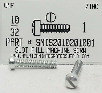 Zinc Fillister Head (#10-32x1 Fillister Head Slotted Machine Screws Steel Zinc Plated)