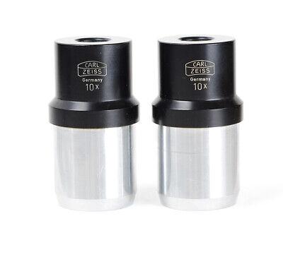 2x Carl Zeiss Eyepiece 10x Stereo Microscope Oclular