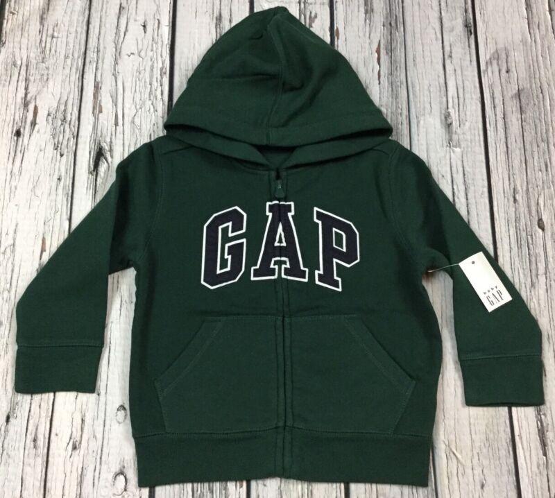 Baby Gap Boys 3 / 3T Forest Green & Navy Blue Zip-Up Hoodie Sweatshirt. Nwt