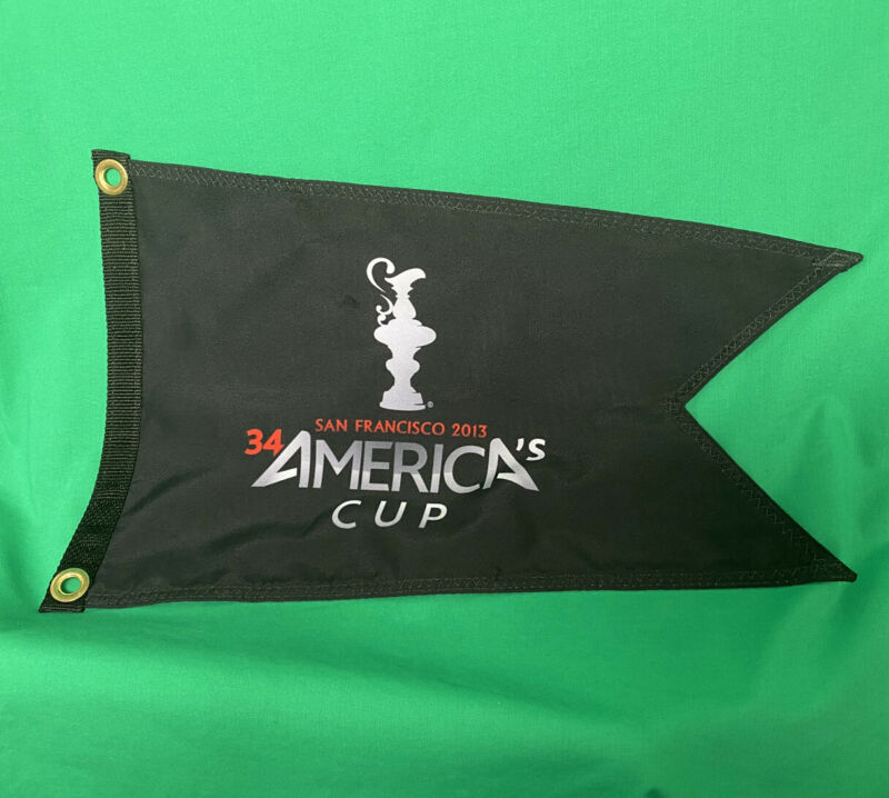 34th America's Cup San Francisco 2013 Full Color Print Burgee Flag Banner