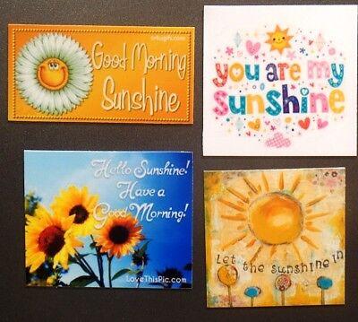 Good Morning Sunshine Flower Hello song sing hearts love happy smile joy magnet - Heart Magnets