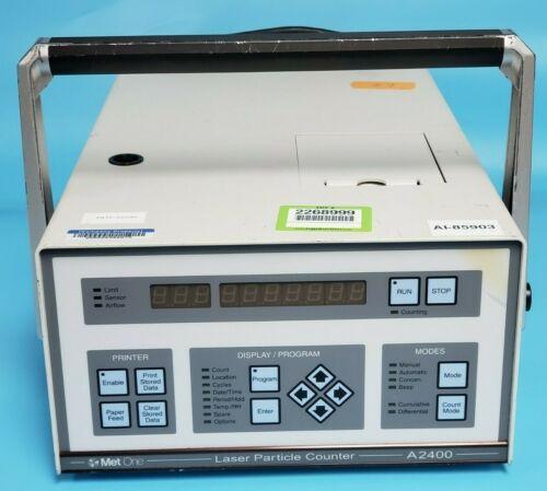 MET ONE A2400 LASER PARTICLE COUNTER, A2400-1-115V-1 CE, 2083226-01, .3uM, 1CFM