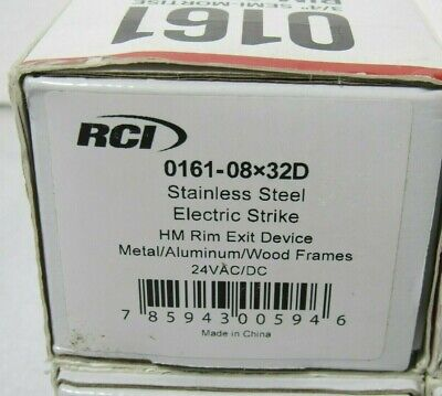 Rci 0161-08x32d 34 Semi-mortise Rim Electric Strike 24vacvdc Ctsa