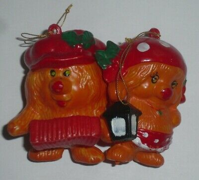 Vintage Woofits Christmas Tree Baubles Decorations Rare