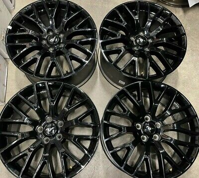 Four 2020 Ford Mustang factory 19 Black Wheels OEM Rims Track Pack 10036 10038