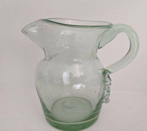 Antique Early Blown Glass Creamer / Small Pitcher MidAtlantic ca 1850 period