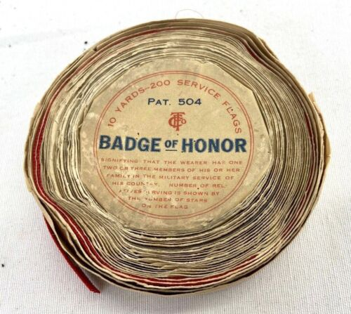 WWII Badge Of Honor Son In Service 10 Yards 200 Service Flags Unused Ribbon