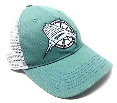Sailfish Compass Pelagic Billfish Logo Adjustable Mesh Trucker Strapback Hat Cap