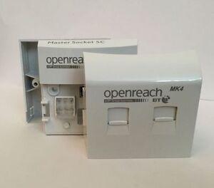 Genuine OpenReach BT Master Socket NTE5C + VDSL MK4 New 2016 Faceplate BNIB