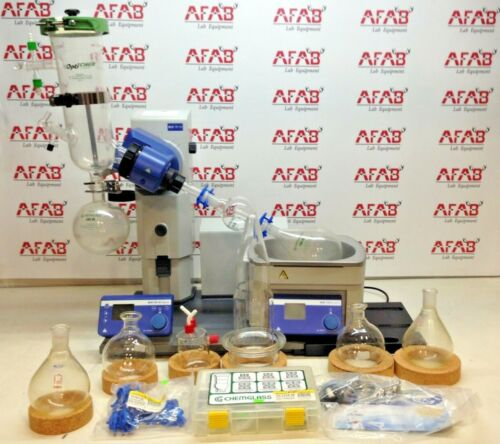 IKA RV 10 Rotary Evaporator and HB 10 Heating Bath Set with Tools