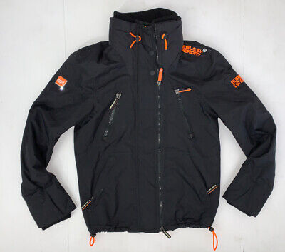 Superdry The Wind Attacker Jacket Size Men's Small Black Orange