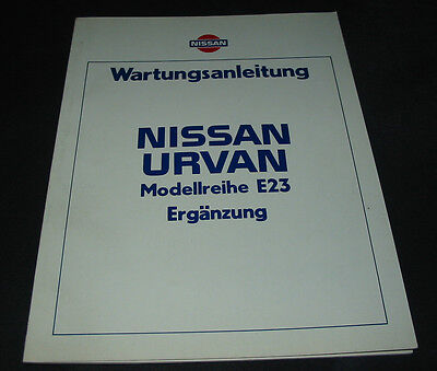 Automobilia Bücher Nissan Vanette C120 Werkstatthandbuch Wartungsanleitung