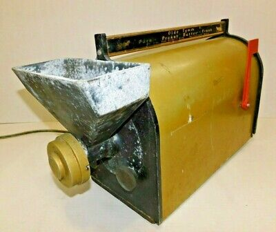 Vtg Olde Tyme Mailbox Nut Grinder Peanut Butter Machine Counter Bench