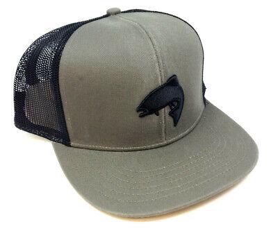LARGEMOUTH BASS LUNKER FISHING ANGLER MESH TRUCKER SNAPBACK HAT CAP ADJUSTABLE