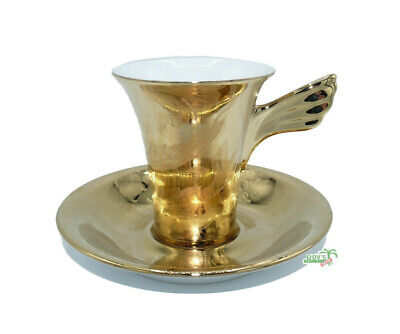 Versace Vanity, La Doree Espresso /Mokka Tasse 2-tlg./ espresso cup by Rosenthal
