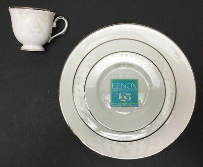 - Lenox 5 Piece Opal Innocence Scroll Bone China Place Setting for 1 806484