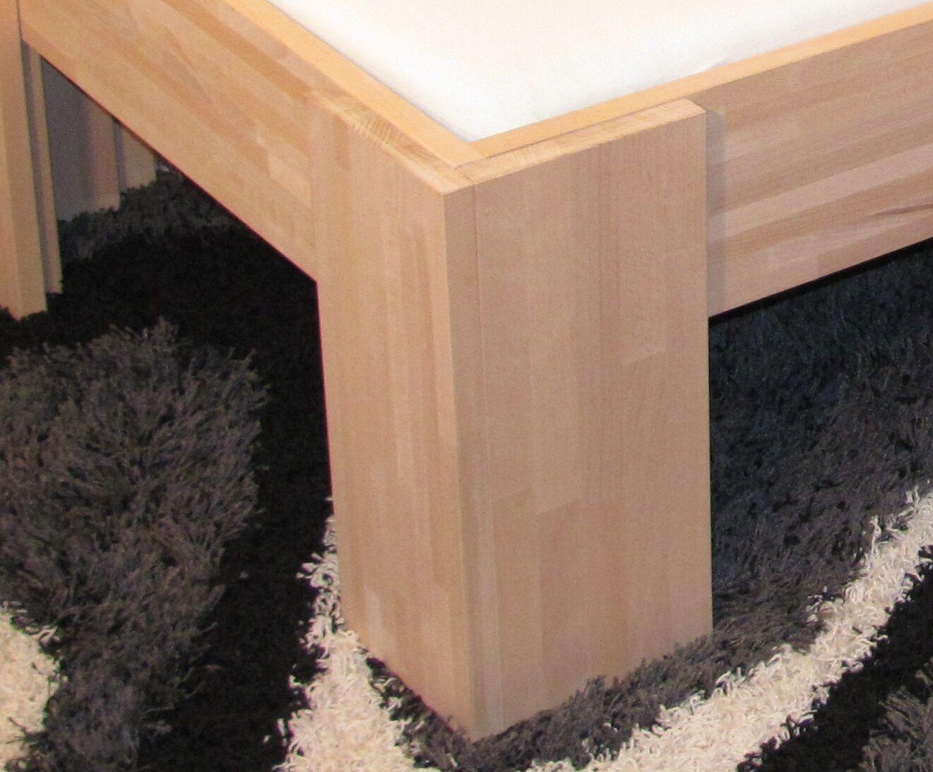 27mm holz bett vollholz echtholz massivholzbett 90x200 einzelbett senioren fu i eur 185 00. Black Bedroom Furniture Sets. Home Design Ideas