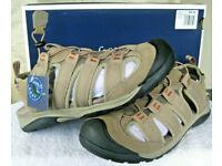 Croft /& Barrow Mens Legato Ortholite Fisherman Sandals Navy Size 12 NWT NIB