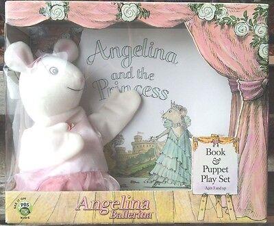 American Girl Doll Angelina & Princess Hardcover Book Puppet Play 2002 Ballerina