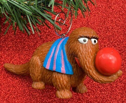 RARE Vintage Sesame Street Snuffleupagus Figure Custom Christmas Tree Ornament