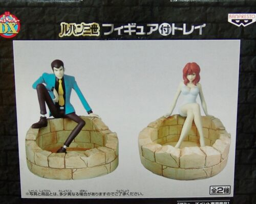 NEW SEALED Banpresto LUPIN the 3rd TRAY WITH FIGURE COMPLETE 2pc set, USA SELLER