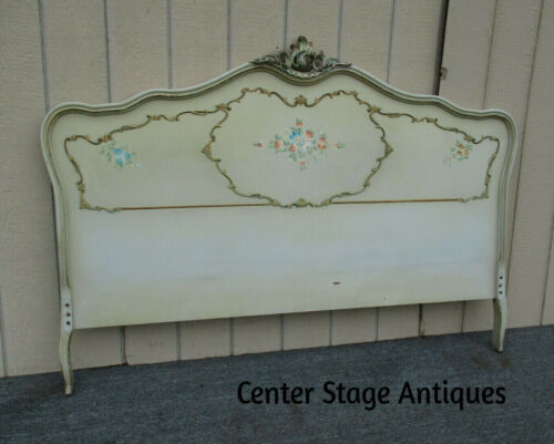 62395 Decorator French Hand Painted Queen Size Headboard