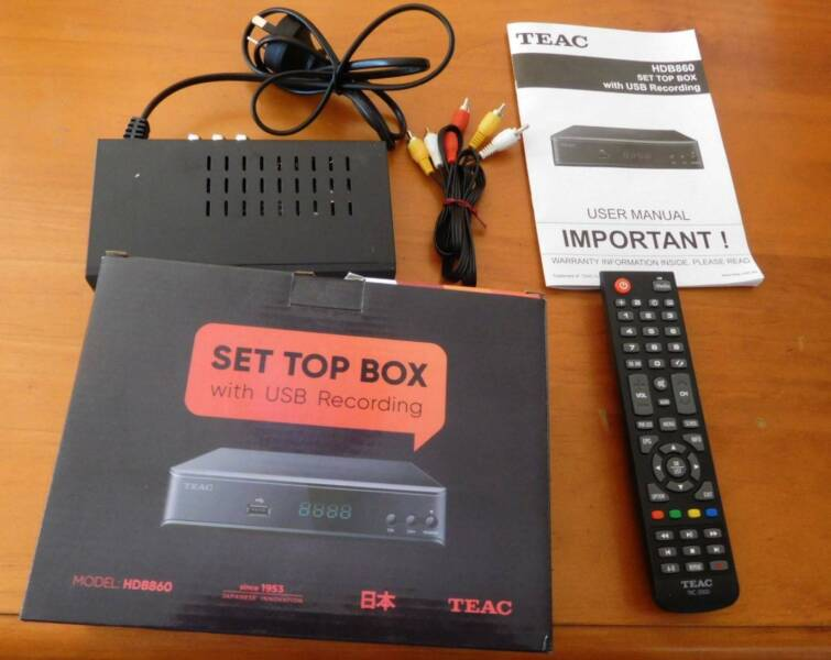 SET TOP BOX WITH USB RECORDING-TEAC HDB860 | Other