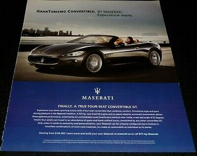 MASERATI GRANTURISMO CONVERTIBLE SPORTS CAR ADVERTISEMENT-2011 EXPERIENCE MORE