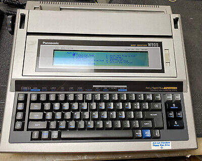 Panasonic Word Processor W905 Accu Spell Plus Thesaurus Model Wcase Mint
