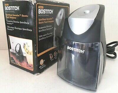 Bostitch Eps9v-blk Quietsharp Executive Electric Pencil Sharpener New W Defects