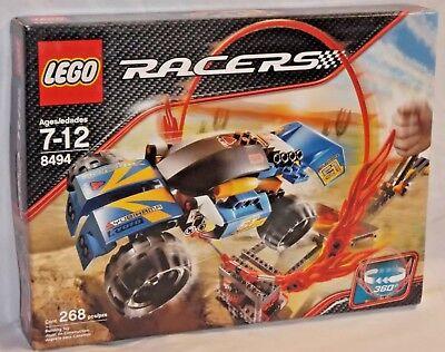 SEALED 8494 LEGO Racers POWER RING FIRE Ramp Buggy Race Car Vehicle 268 pcs set