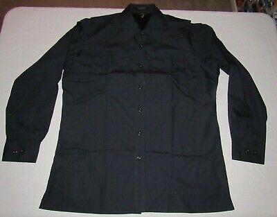 Twin Hill Men's Navy Blue Rip Stop Button Long Sleeve Uniform Shirt Size L (Navy Blue Long Sleeve Uniform)