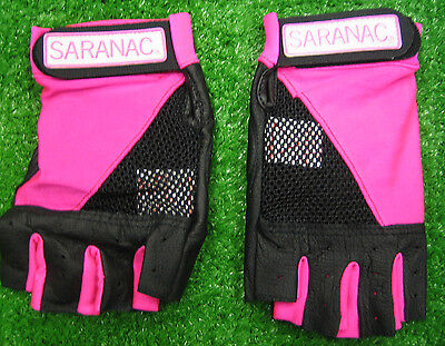 Womens Ladies Cross Training Exercise Fitness Weight Lifting Pink Workout Gloves
