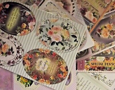Craft UK Classic Floral Die Cut Toppers & Decoupage - various designs