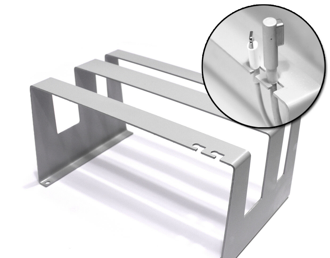 Laptop Tablet Vertical Desktop Stand Macbook iPad 2in1 Charger Grip Dell Surface