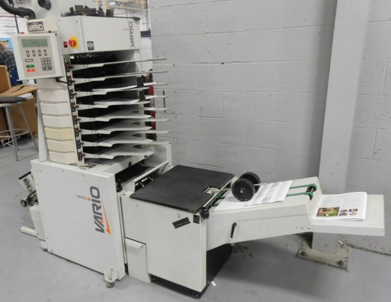 Watkiss Vario Collator with Stitch, Face Trim & Stacker Excellent Condition