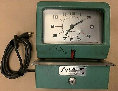 Acroprint Time Recorder Co Model 150er3