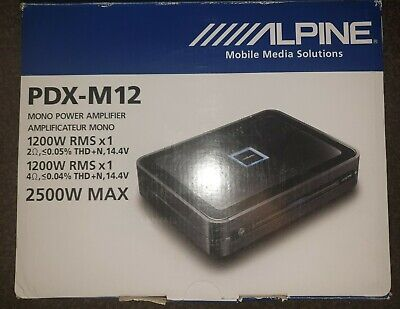 Alpine PDX-M12 -CLASS D MonoBlock Car Bass Sub Amp Subwoofer Amplifier 1200W...