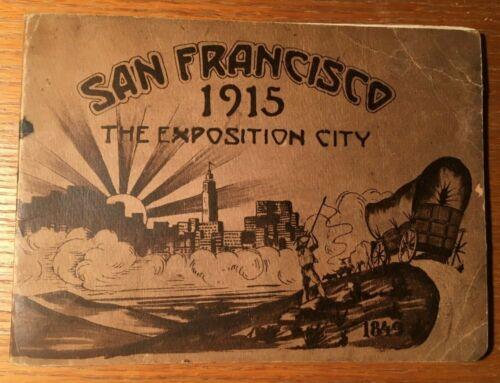 1915 SAN FRANCISCO Exposition City Souvenir PHOTO Booklet