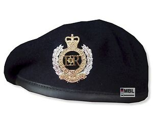 ROYAL-ENGINEERS-NAVY-BLUE-BERET-or-BERET-OFFICIAL-CAP-BADGE-SIZES-53-62cm